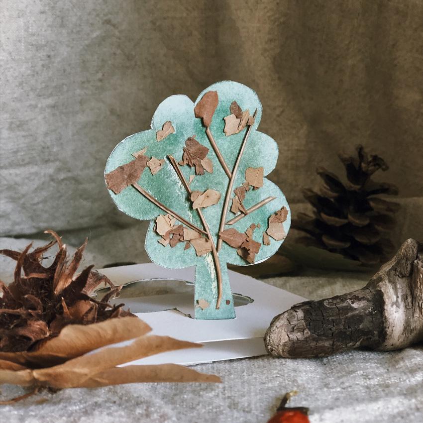 coffeeDIY Karte Natur Baum 03 - DIY   KW 41