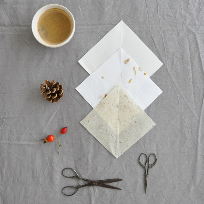 coffeeDIY Schneeflocke Papier Falten 01 - DIY   KW 41