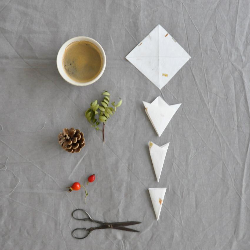 coffeeDIY Schneeflocke Papier Falten 02 - DIY   KW 41