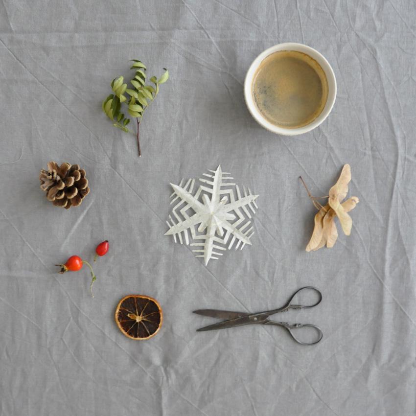 coffeeDIY Schneeflocke Papier Falten 03 - DIY   KW 41