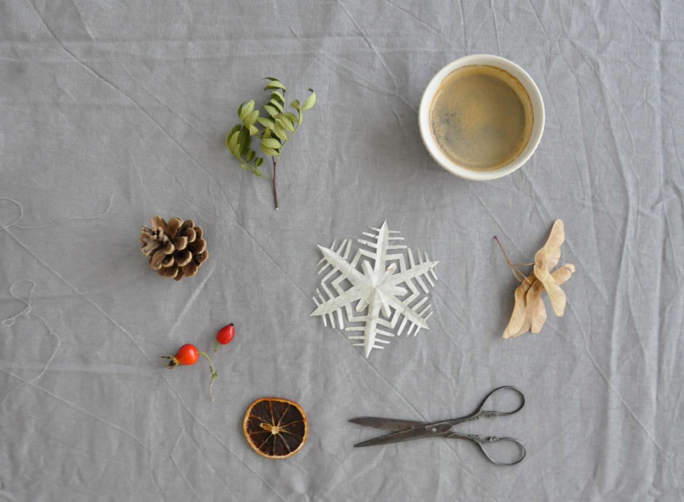 coffeeDIY Schneeflocke Papier Falten 04 - DIY | KW 41