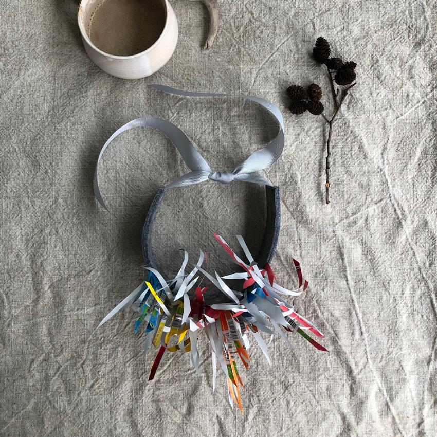 DIY Vogelkostuem upcycling quetschi fruchtquetsch idee 11 - DIY | Upcycling Vogelkostüm aus Müll