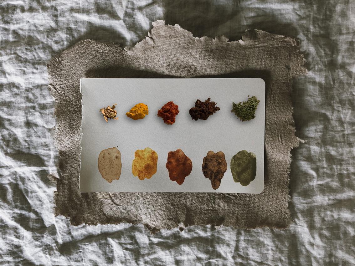 coffeeDIY Gewuerze Farben natuerlich unbedenklich Titel - DIY | Malen mit Gewürzen