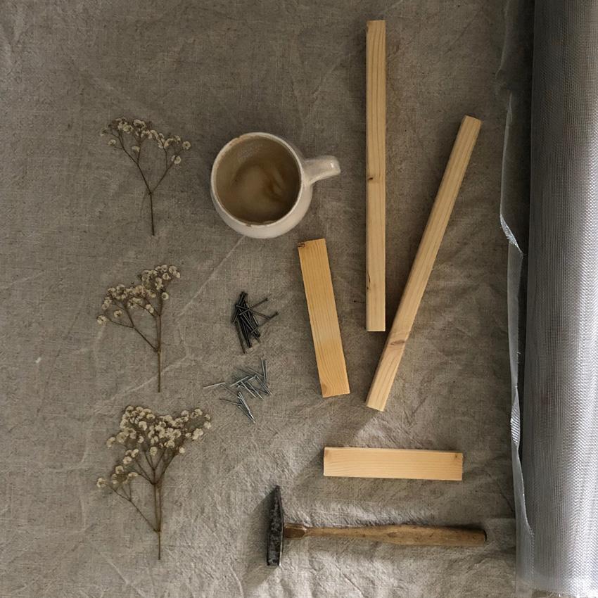 coffeeDIY Rahmen Papier schoepfen 01 - DIY | Papier schöpfen - einfach, simpel, nachhaltig