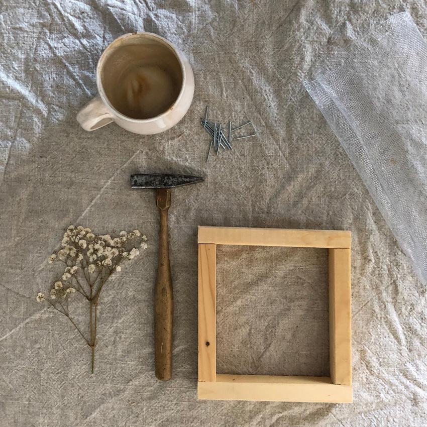coffeeDIY Rahmen Papier schoepfen 03 - DIY | Papier schöpfen - einfach, simpel, nachhaltig