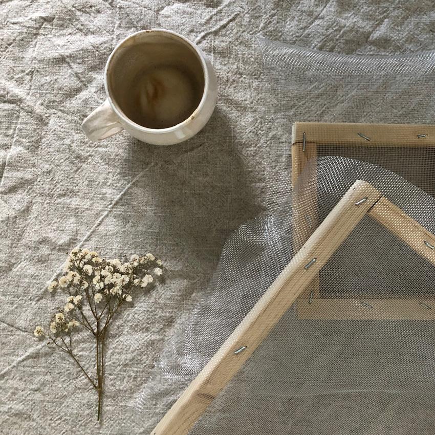 coffeeDIY Rahmen Papier schoepfen 04 - DIY | Papier schöpfen - einfach, simpel, nachhaltig