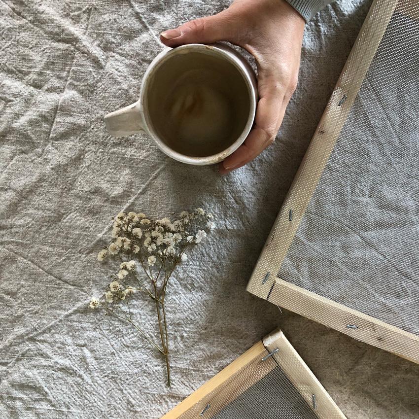 coffeeDIY Rahmen Papier schoepfen 05 - DIY | Papier schöpfen - einfach, simpel, nachhaltig