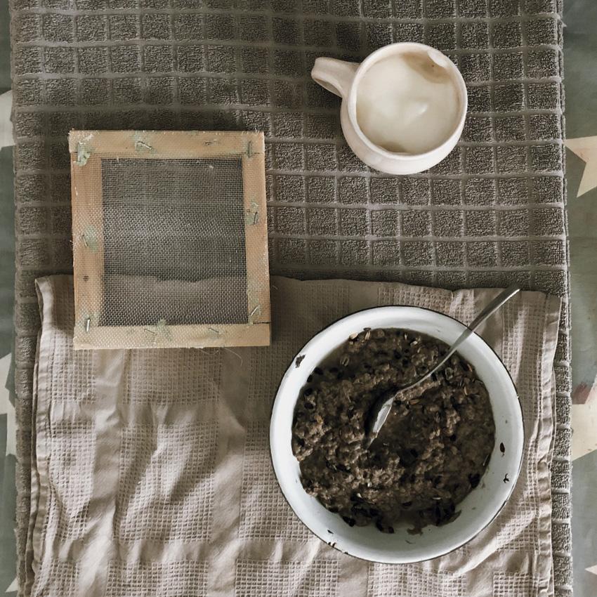 coffee DIY Papier schoepfen Saatpapier Saatscheiben 03 - DIY | Upcycling Saatpapier