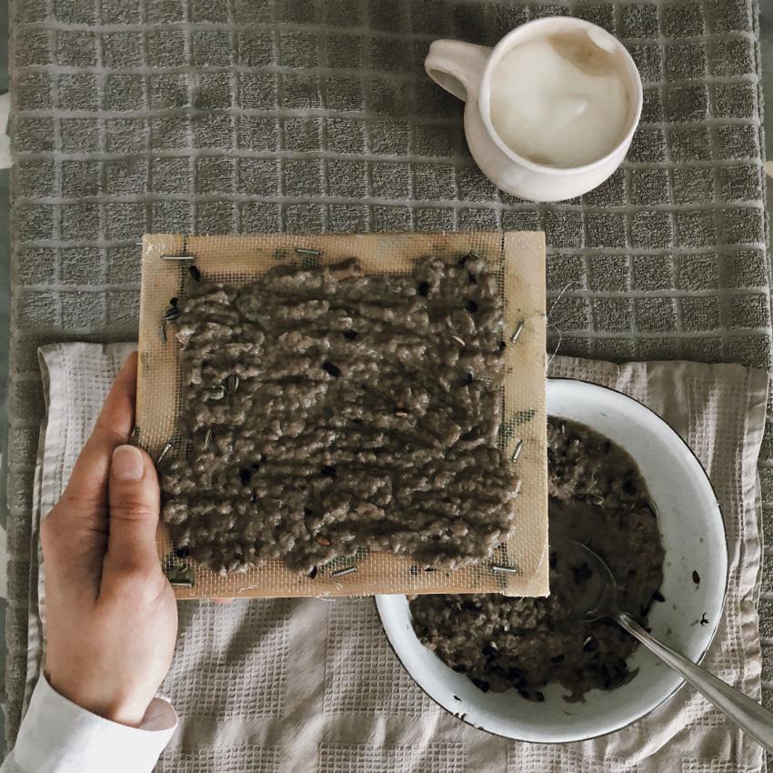 coffee DIY Papier schoepfen Saatpapier Saatscheiben 04 - DIY | Upcycling Saatpapier