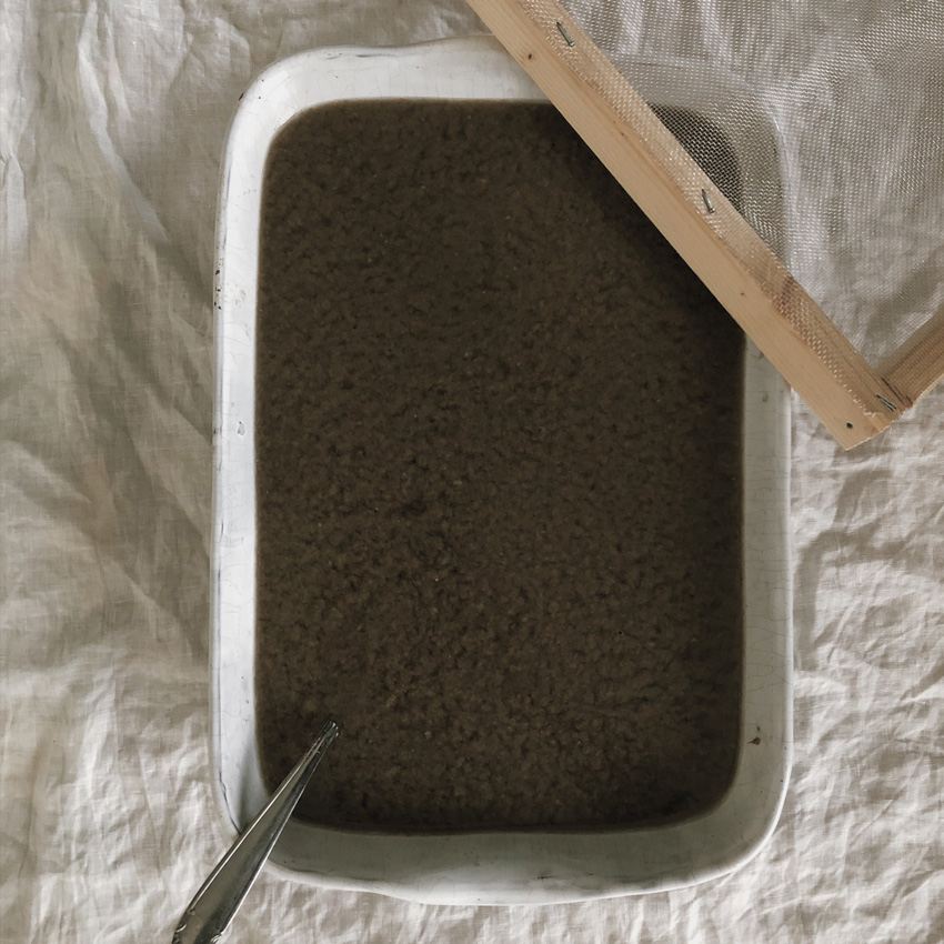 coffee DIY duennes Papier Blaetterkranz 01 - DIY | ein Blätterkranz aus handgeschöpftem Papier