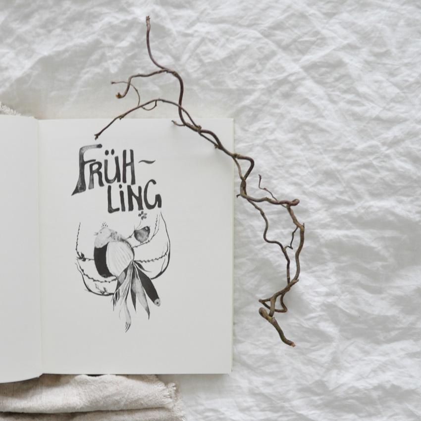 2019 Freies Geistesleben Jahreszeitenbuch Seite Fruehling - Bienenwachs | leuchtend & duftend durchs Jahr Richtung Silvester