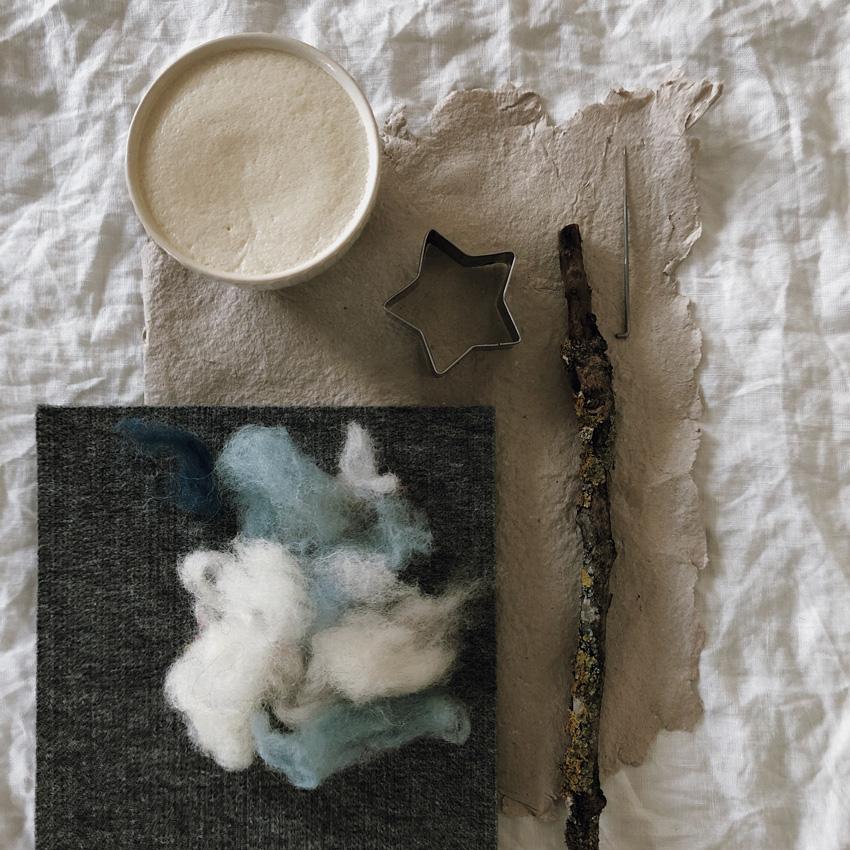 coffeeDIY Sterntaler Zauberstab Trockenfilzen 01 - DIY | ein Sterntalerkostüm - simpel, einfach, schön