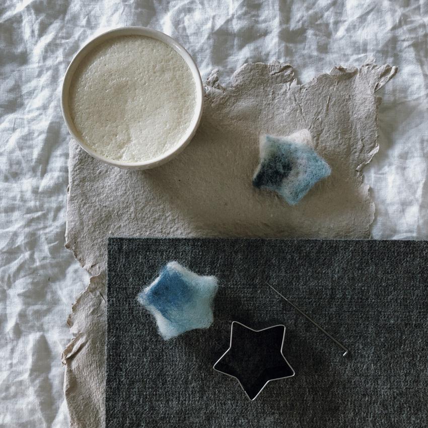 coffeeDIY Sterntaler Zauberstab Trockenfilzen 03 - DIY | ein Sterntalerkostüm - simpel, einfach, schön