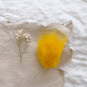 2019 Filges Schafschurwolle gelb 300x300 - Schafschurwolle zum Filzen | gelb