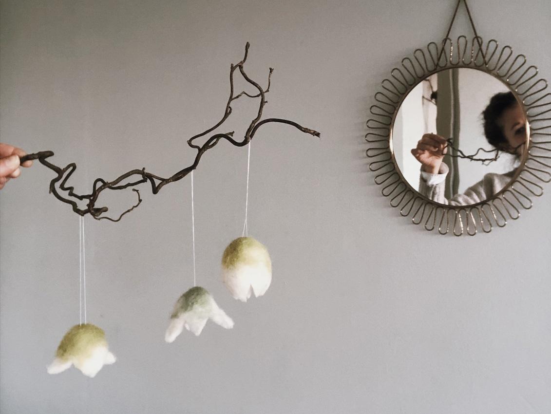 coffee DIY Blumen gefilzt Schneegloeckchen filzen Titel - gefilzte Schneeglöckchen & Blumen