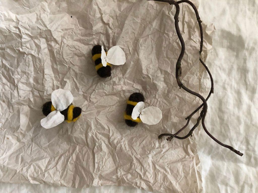 Filzbienen Bienenstock filzen Schurwolle Nassfilzen 3 1024x768 - DIY | Bienen filzen