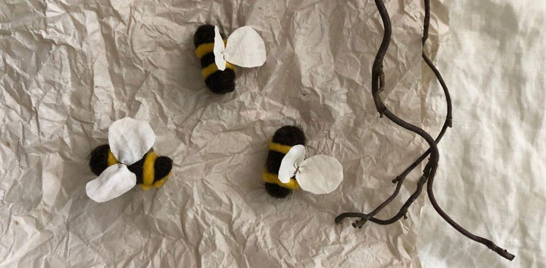 Filzbienen Bienenstock filzen Schurwolle Nassfilzen 3 1080x530 - DIY | Bienen filzen