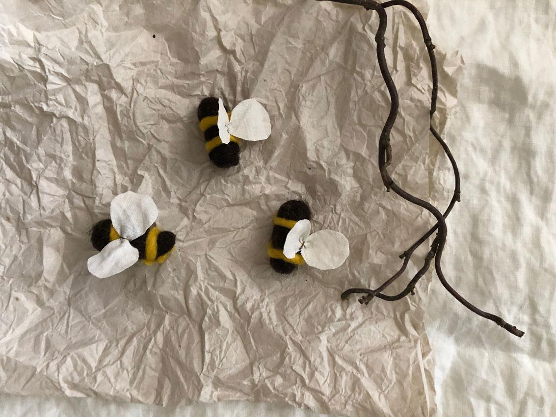 Filzbienen Bienenstock filzen Schurwolle Nassfilzen 3 - DIY | Bienen filzen