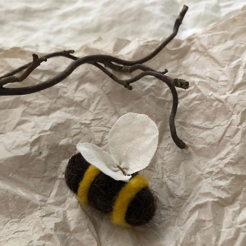 Filzbienen Bienenstock filzen Schurwolle Nassfilzen diy 5 - DIY | Bienen filzen