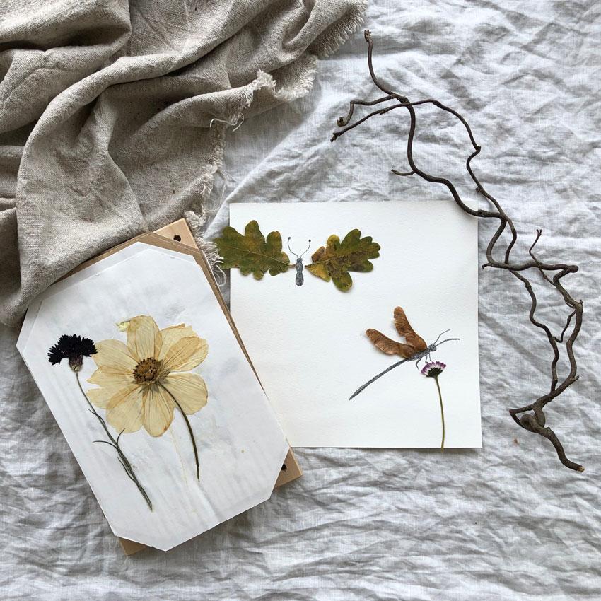 Geschicklichkeit Montessori Spiele Naturmaterialien Blumenpresse Tiere - Spiel- & Lernideen Montessori inspiriert | unser Notfallregal im Kinderzimmer