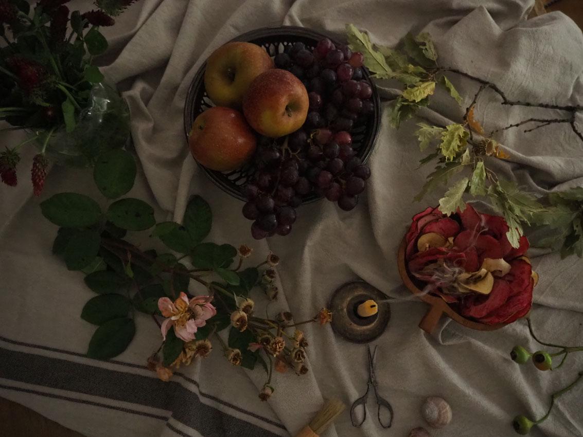 191022 Apfel Hagebutten Rosen Herbst getrocknet rote Beete - rund um den Apfel | von Apfeltee, Apfelchips und magischen Momenten