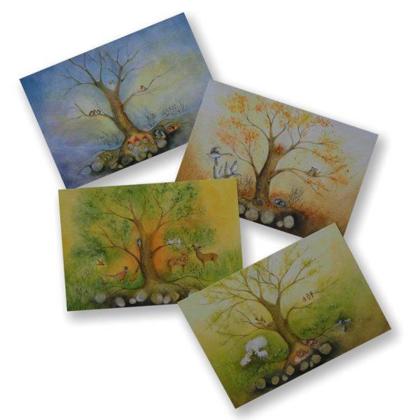 2019 Ode Jahreszeitenkarten frei 600x600 - Kunstkarten-Set | Jahreszeiten