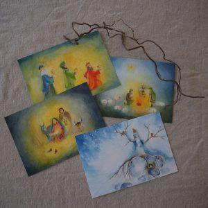 2019 Ode Winterkarten 4 300x300 - Kunstkarten-Set | Winter