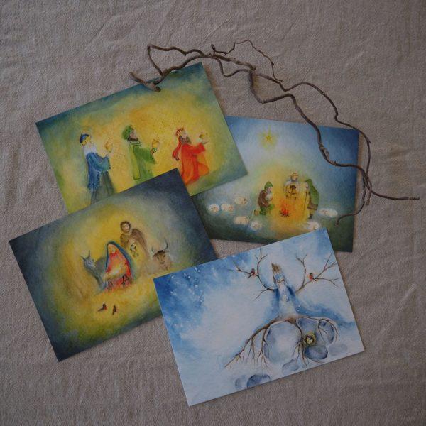 2019 Ode Winterkarten 4 600x600 - Kunstkarten-Set | Winter