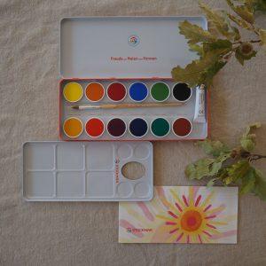 2019 Stockmar Deckfarben offen oben 300x300 - Wasserfarben | 12 Farben
