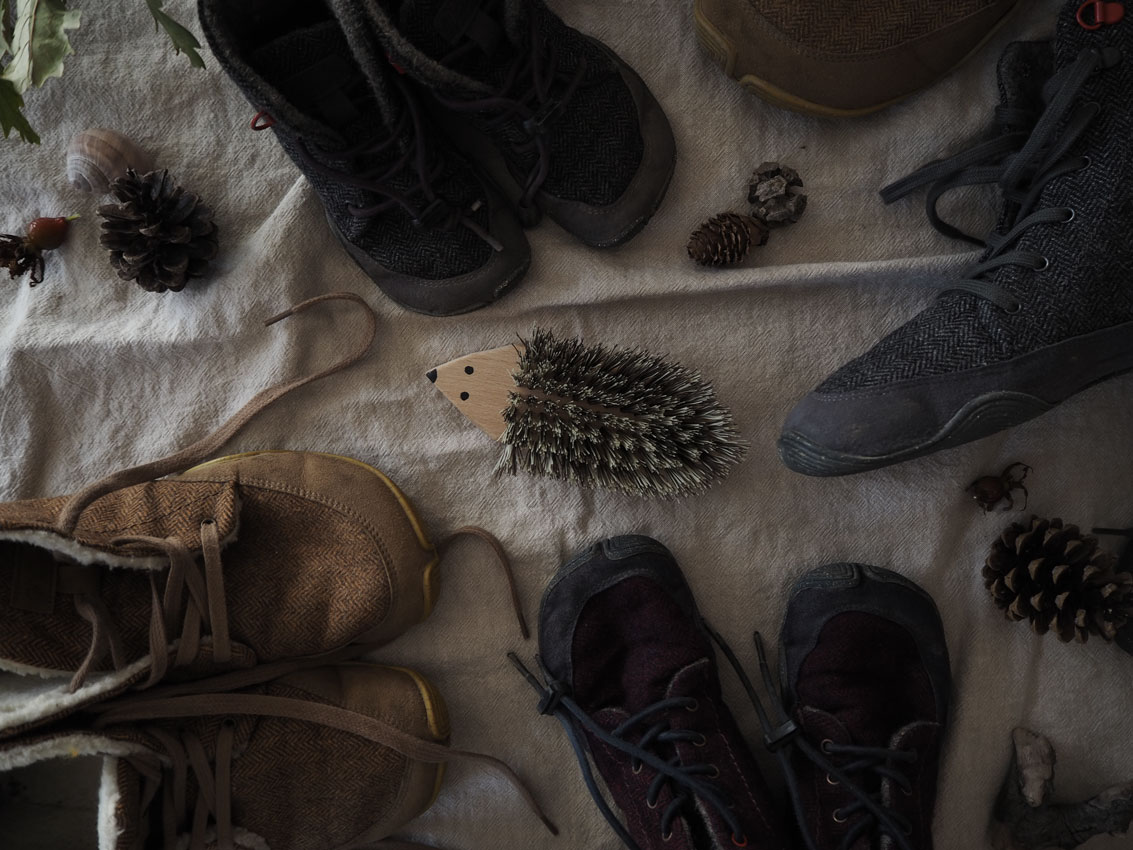 wildling Barfußschuhe Buerste - Wildlinge imprägnieren & gefilzte Einhornbegleiter