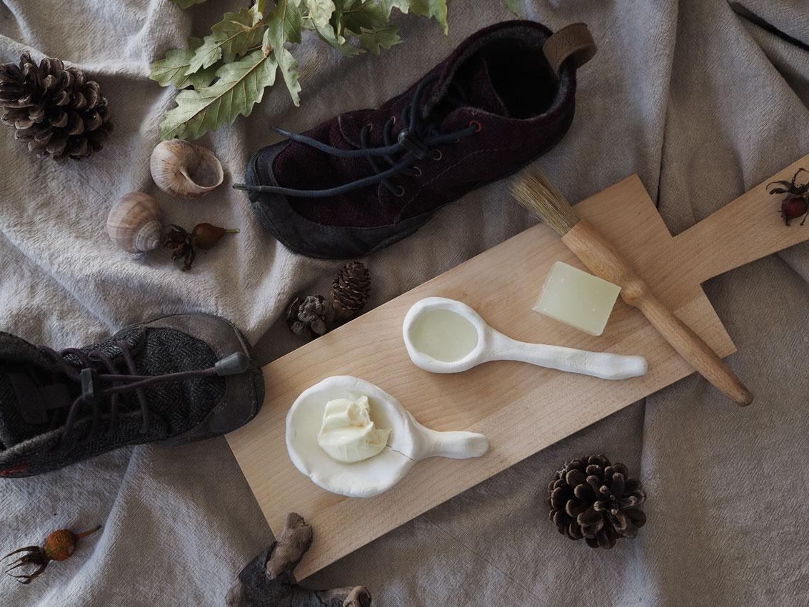 wildling Barfußschuhe Fett Wachs Seife - Wildlinge imprägnieren & gefilzte Einhornbegleiter