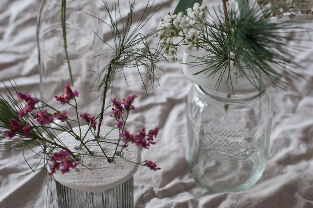 DIY Modelliermasse Blumen Stecker Arrangement 08 1024x680 - achtsam im Advent | Die schönsten Geschenke aus Modelliermasse