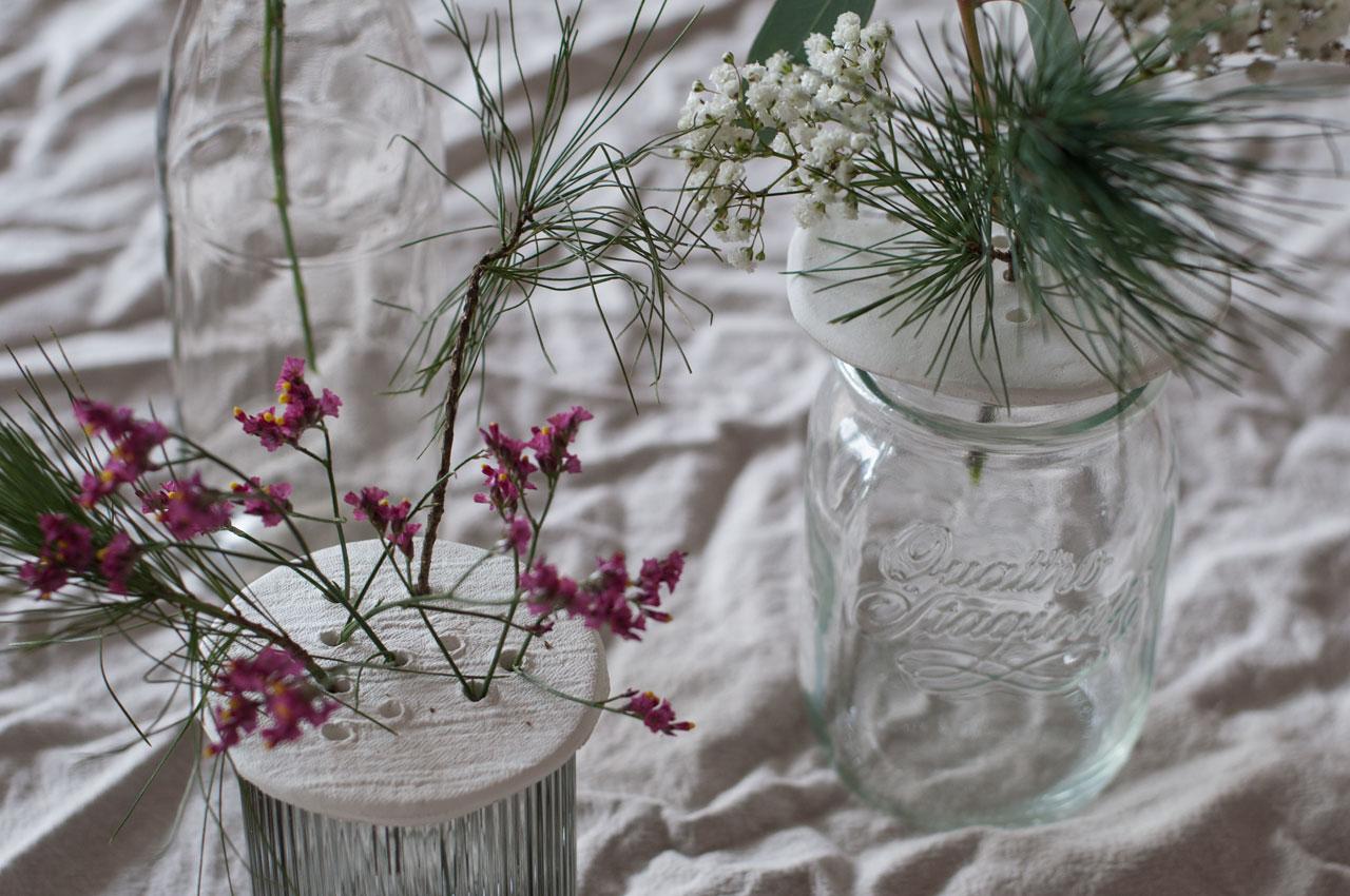 DIY Modelliermasse Blumen Stecker Arrangement 08 - achtsam im Advent | Die schönsten Geschenke aus Modelliermasse