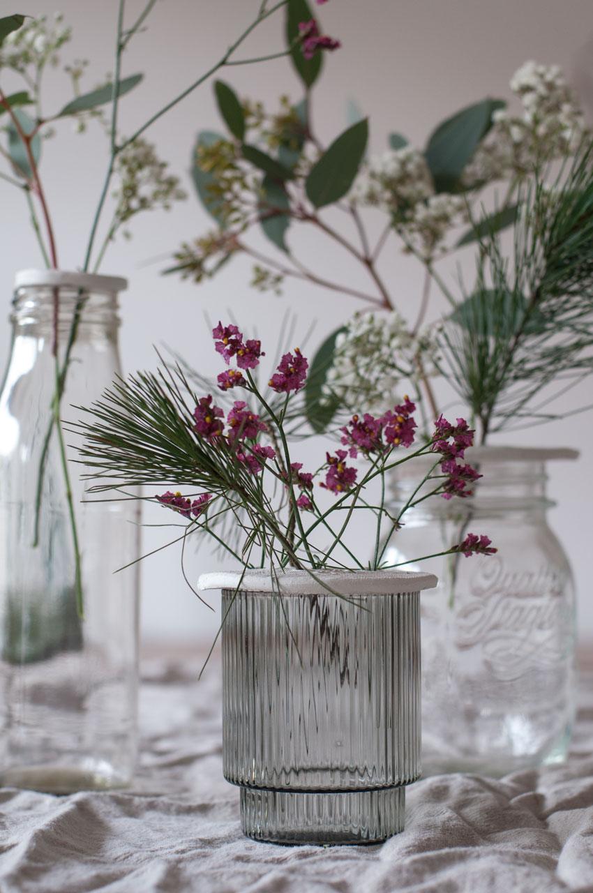DIY Modelliermasse Blumen Stecker Arrangement 09 - achtsam im Advent | Die schönsten Geschenke aus Modelliermasse